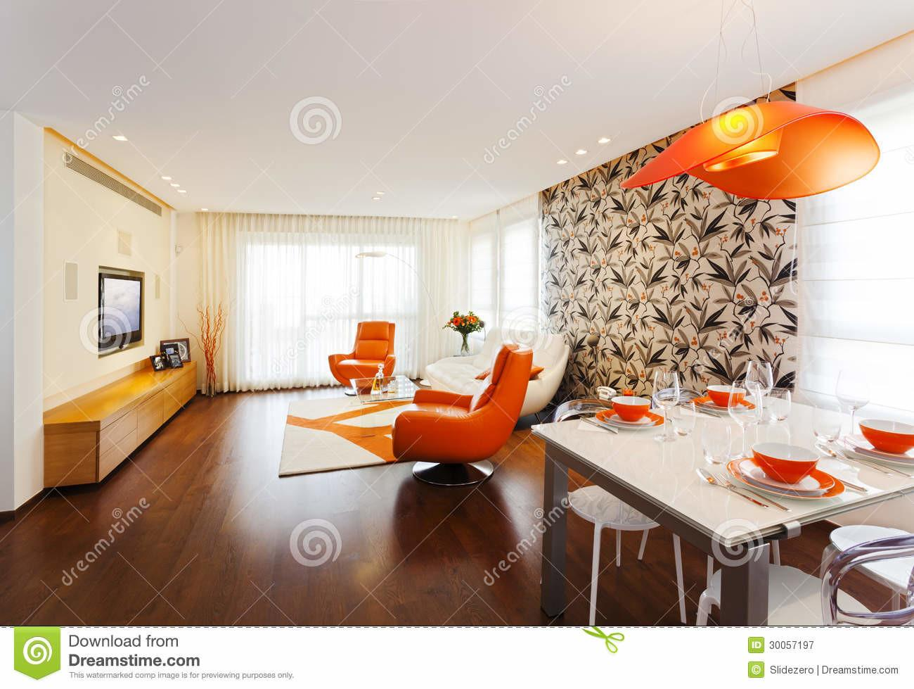 Modern Home Royalty Stock Photography