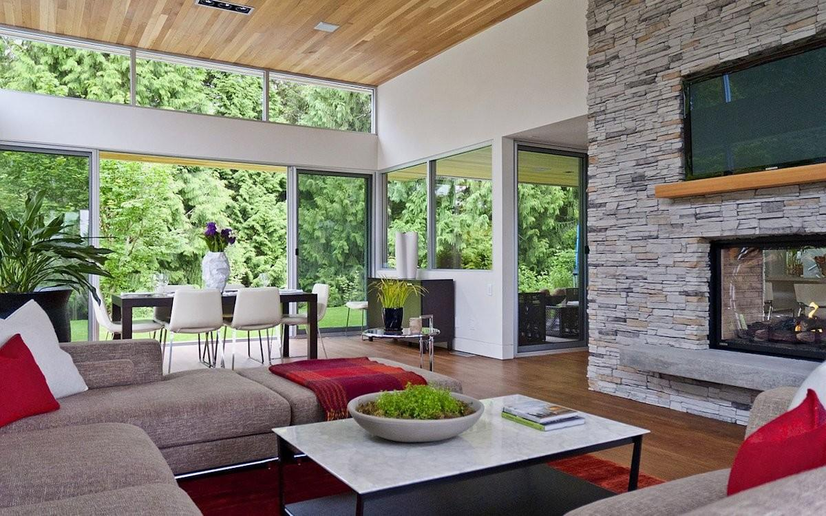 Modern Home Surrounded Nature Vancouver Canada