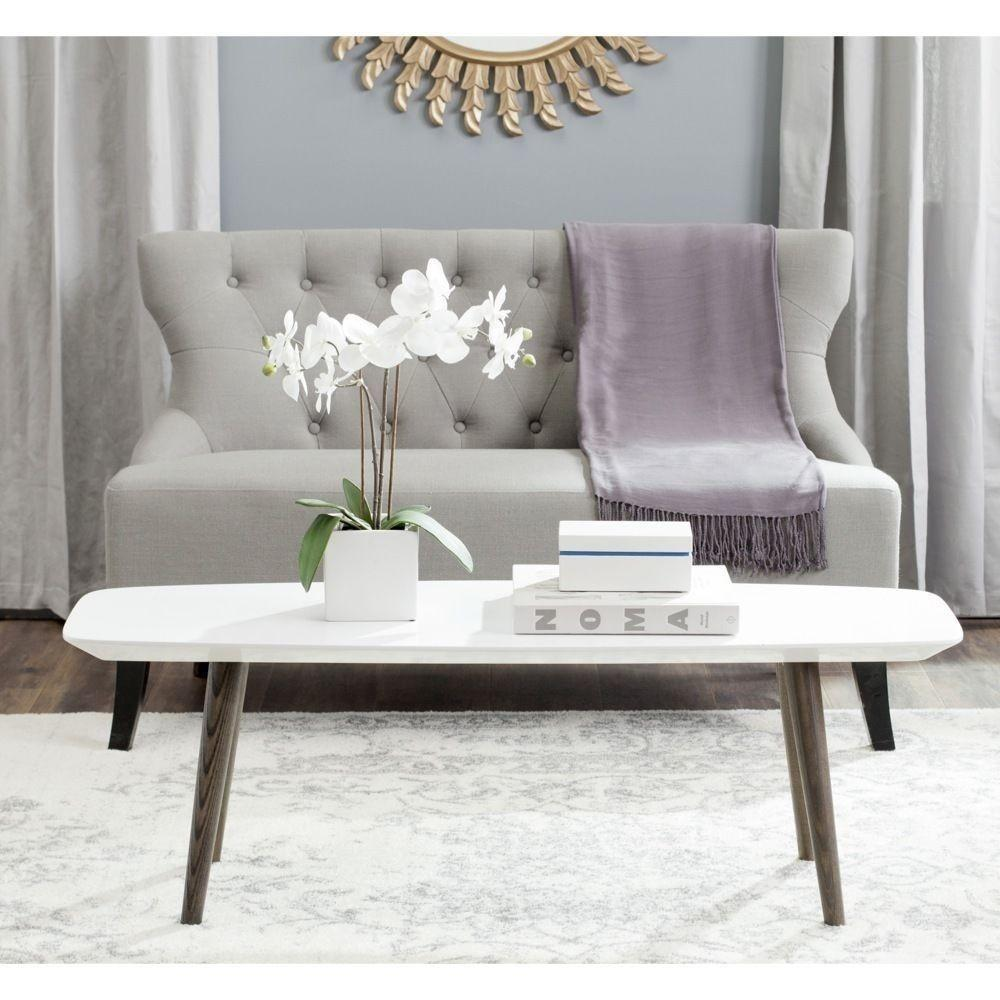 Modern Home White Dark Brown Lacquer Coffee Table