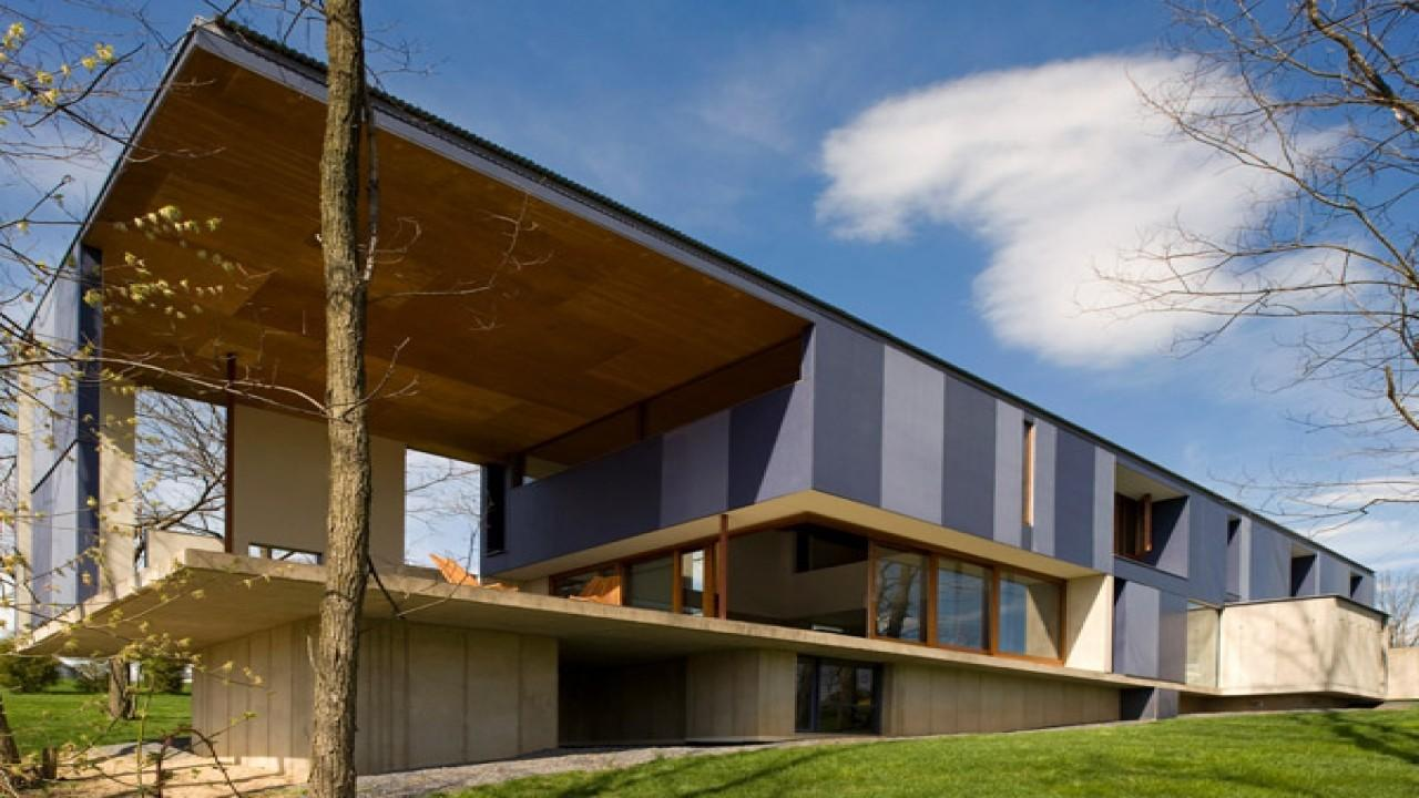 Modern House Architecture Industrial Concrete