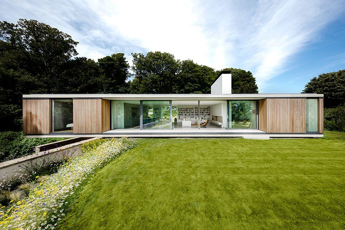 Modern House Cantilevers Over Stone Wall England Curbed