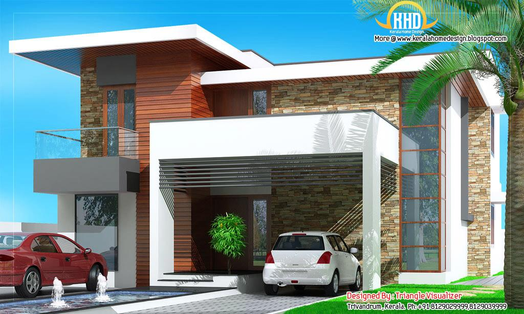 Modern House Elevation 2831 Kerala Home Design