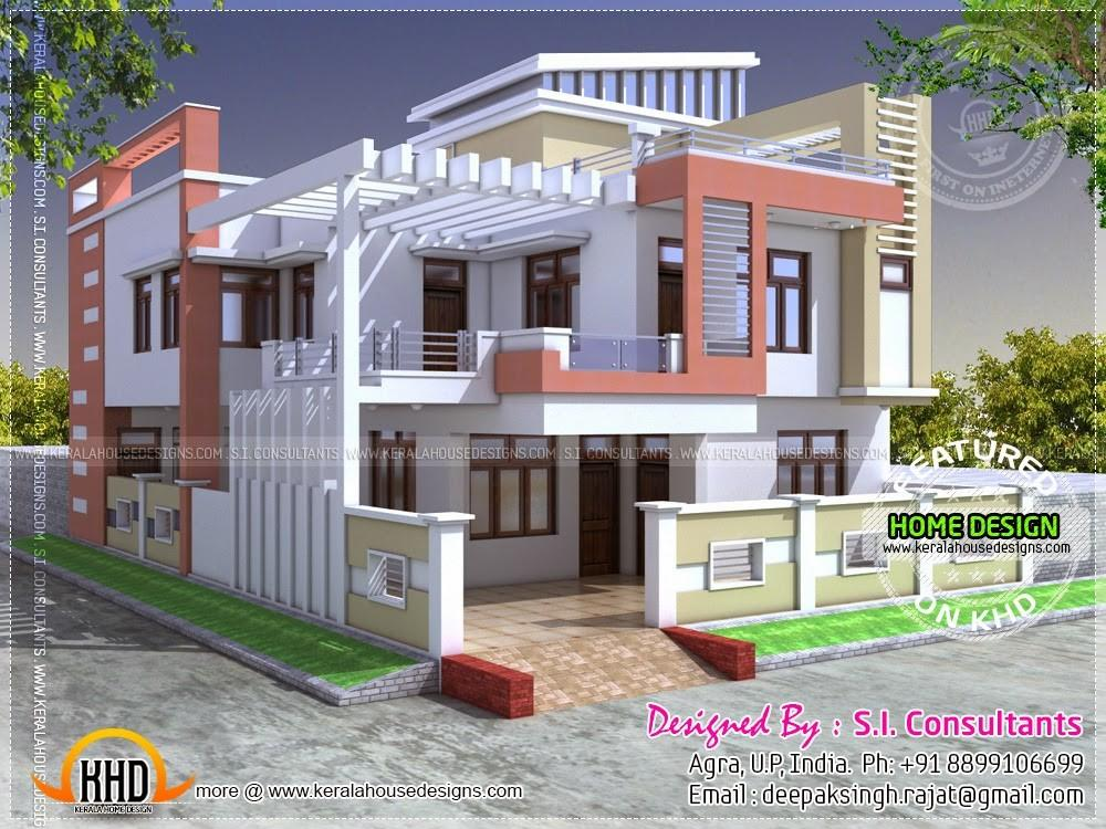 Modern Indian House 2400 Square Feet Home Kerala Plans