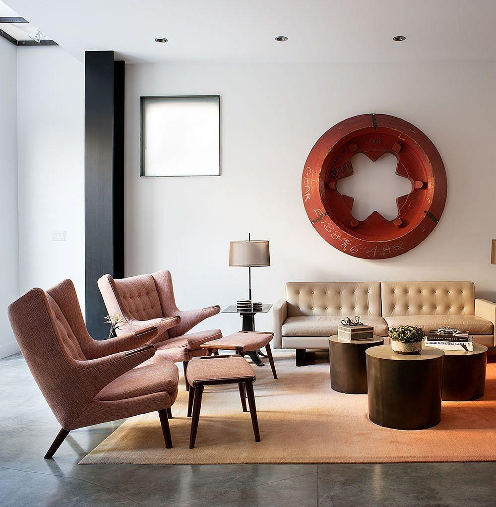 Modern Industrial Bachelor Pad Filled Iconic Cor