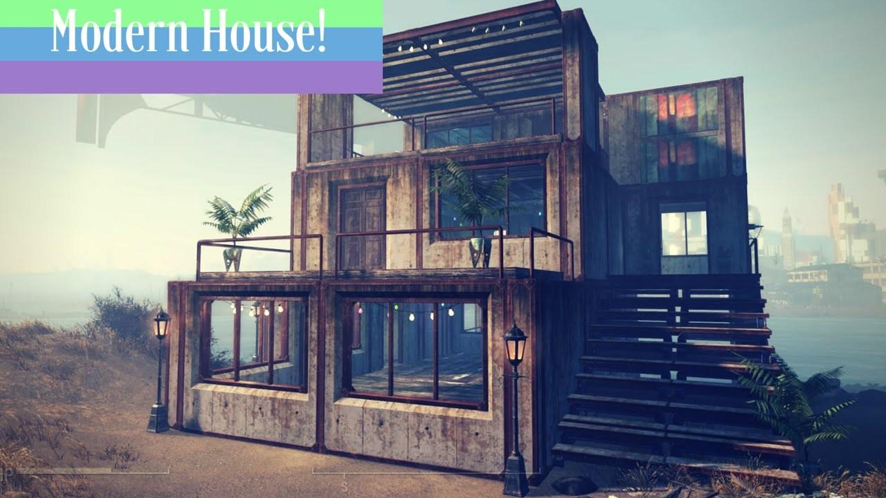 Modern Industrial House Build Fallout Ps4