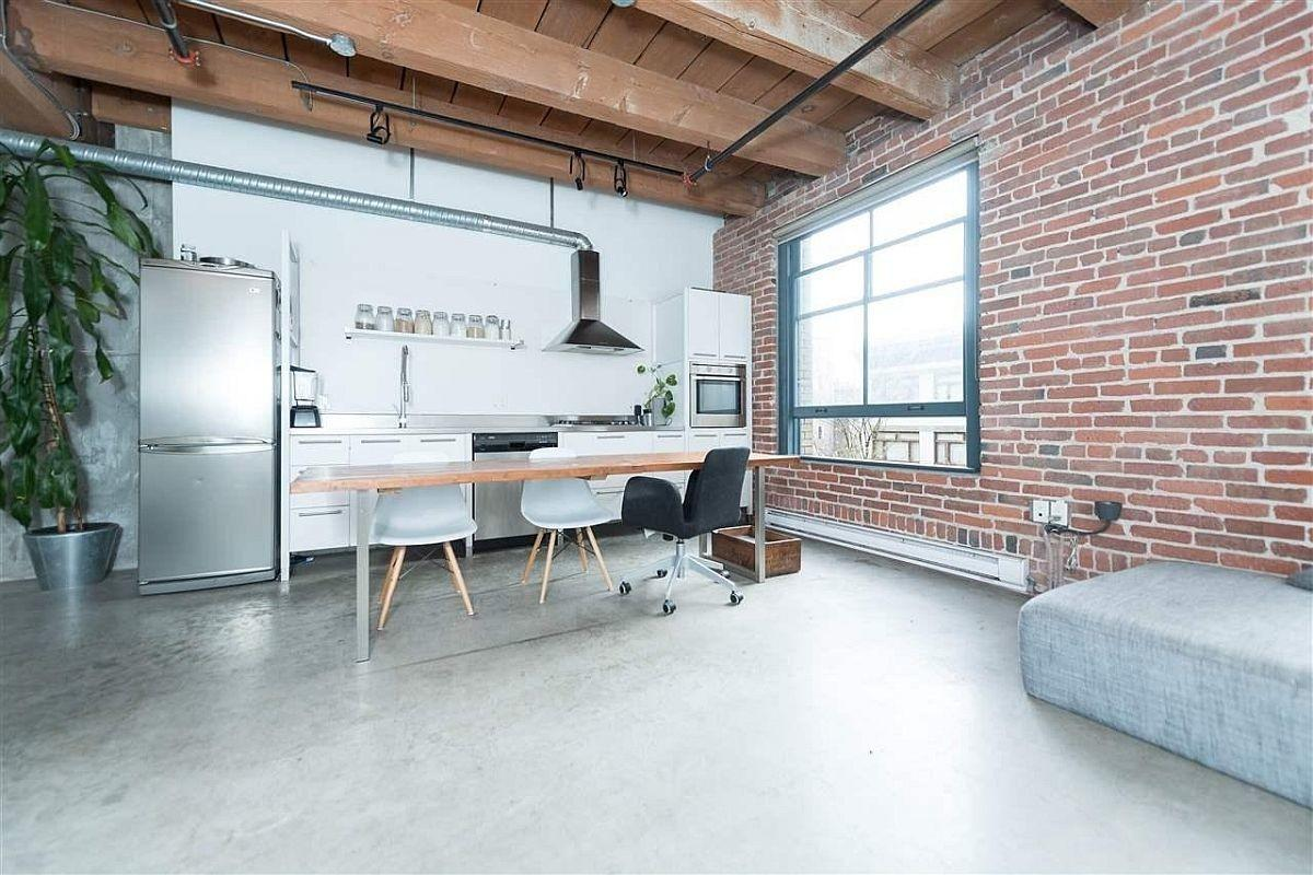 Modern Industrial Vancouver Apartment Wood Concrete