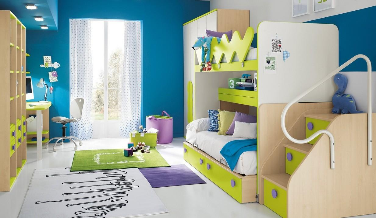 Modern Kid Bedroom Interior Decorating Ideas Blue