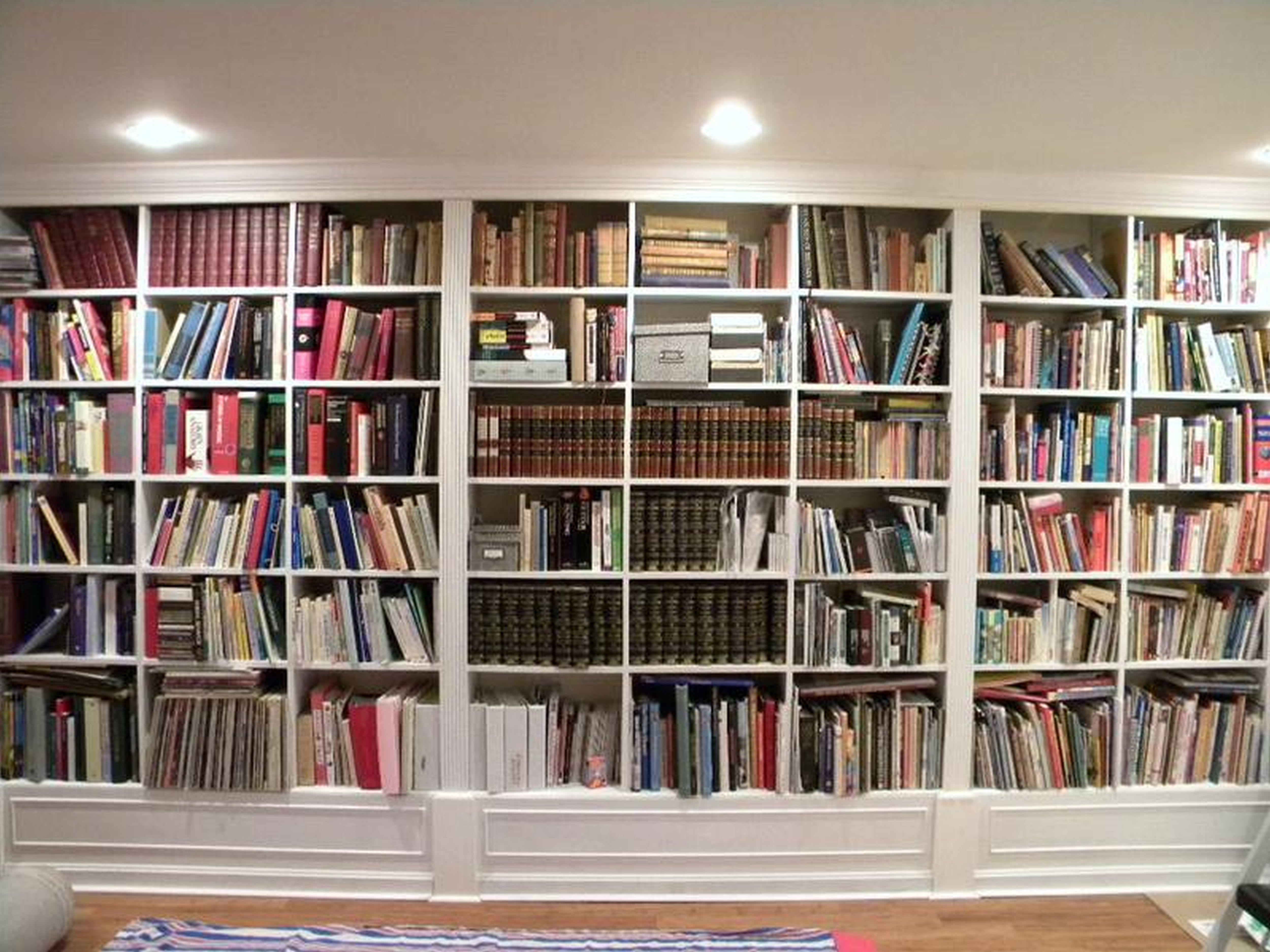 Modern Ladders Dwell Waterview House Bookcase Living