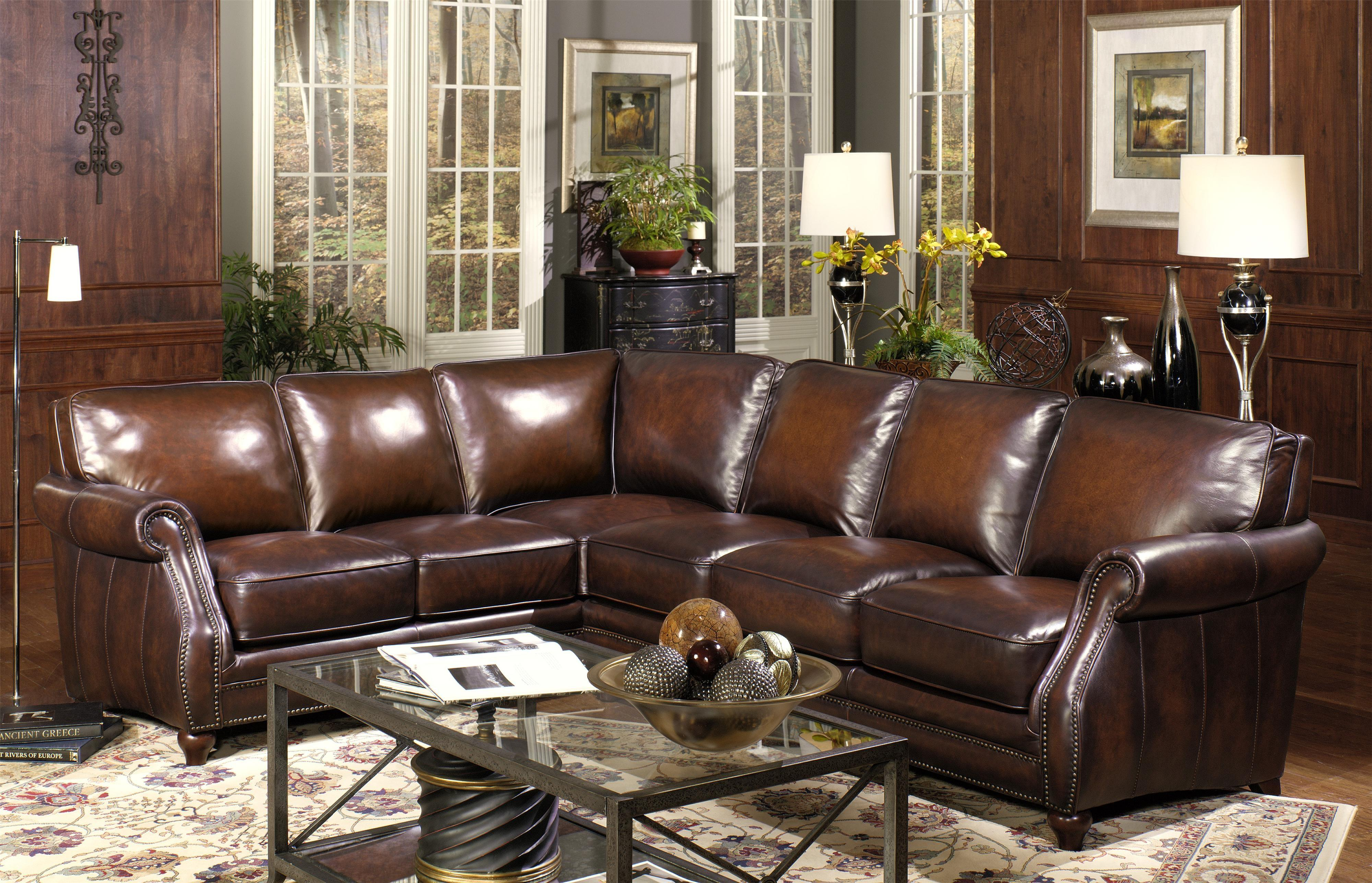 Modern Leather Sectional Recliner Chaise