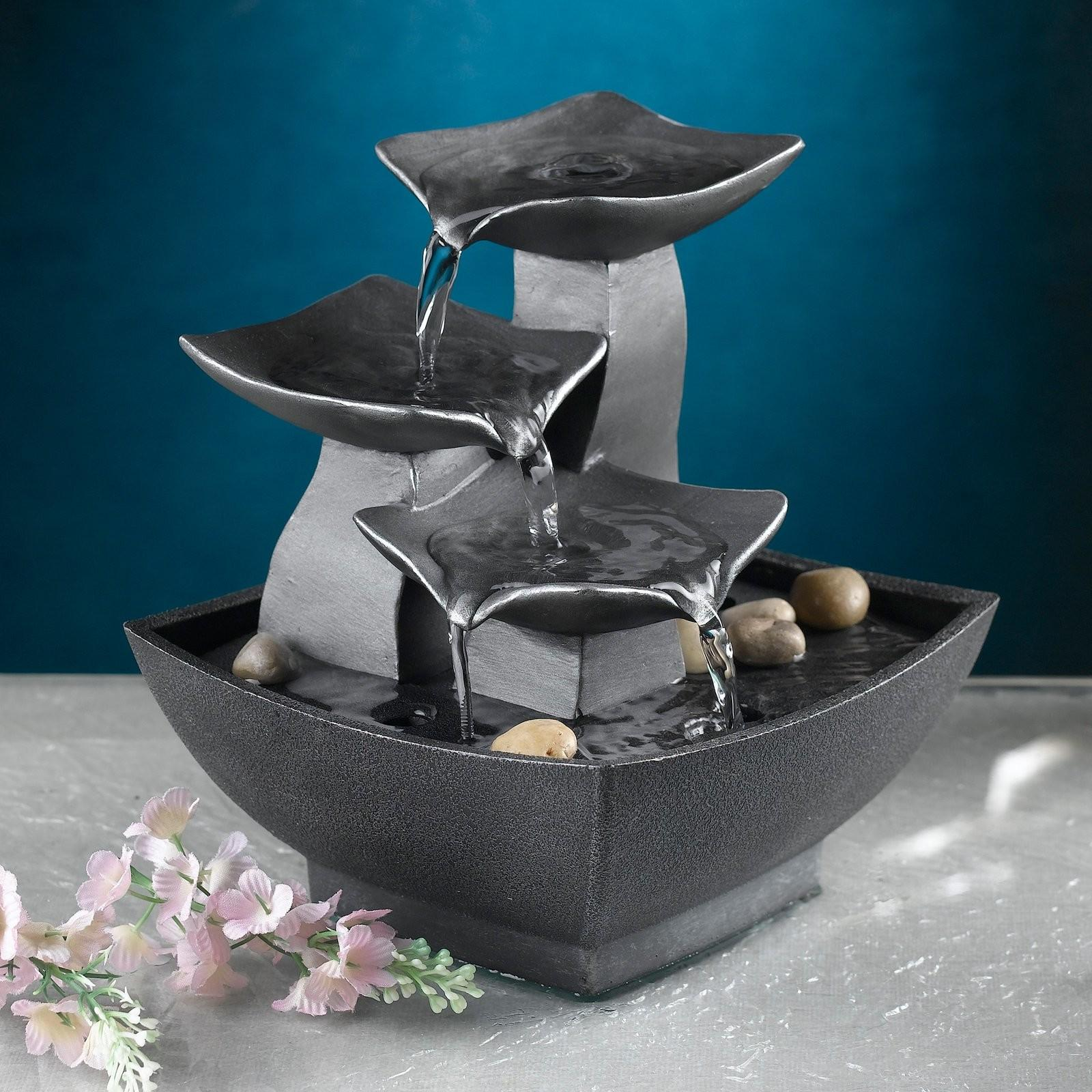 Modern Leaves Tabletop Outdoor Fountain Fountains