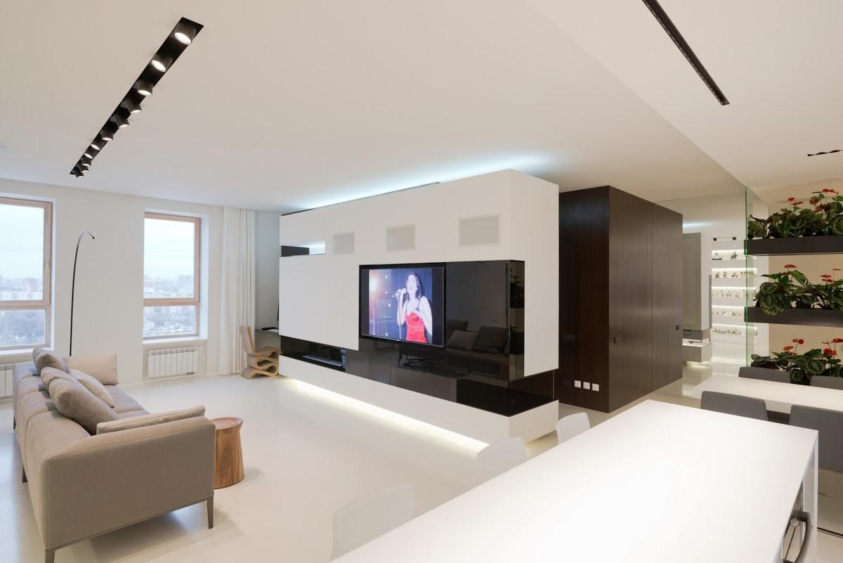 Modern Luxurious Apartment Moscow Project