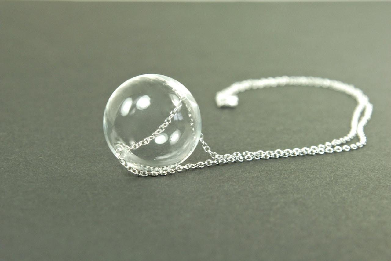 Modern Minimalist Glass Globe Pendant Contemporary Jewelry