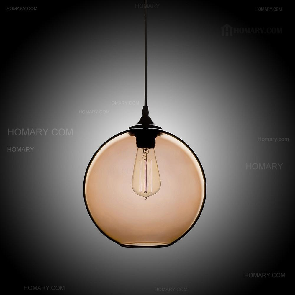 Modern Minimalist Glass Single Light Globe Pendant