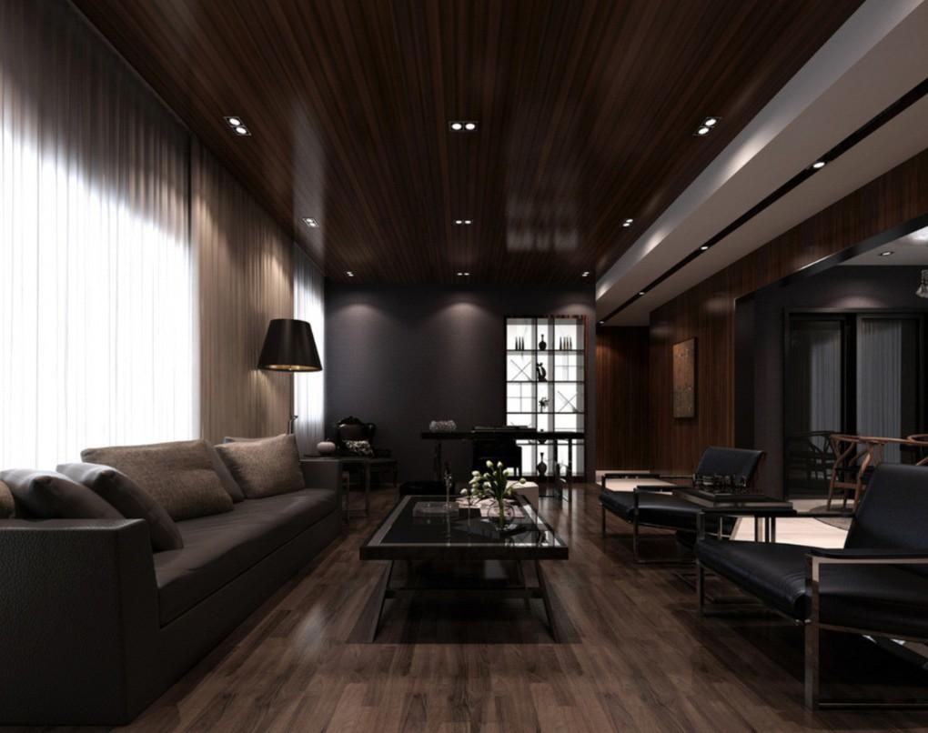 Modern Minimalist Interior Design Dark Nuances