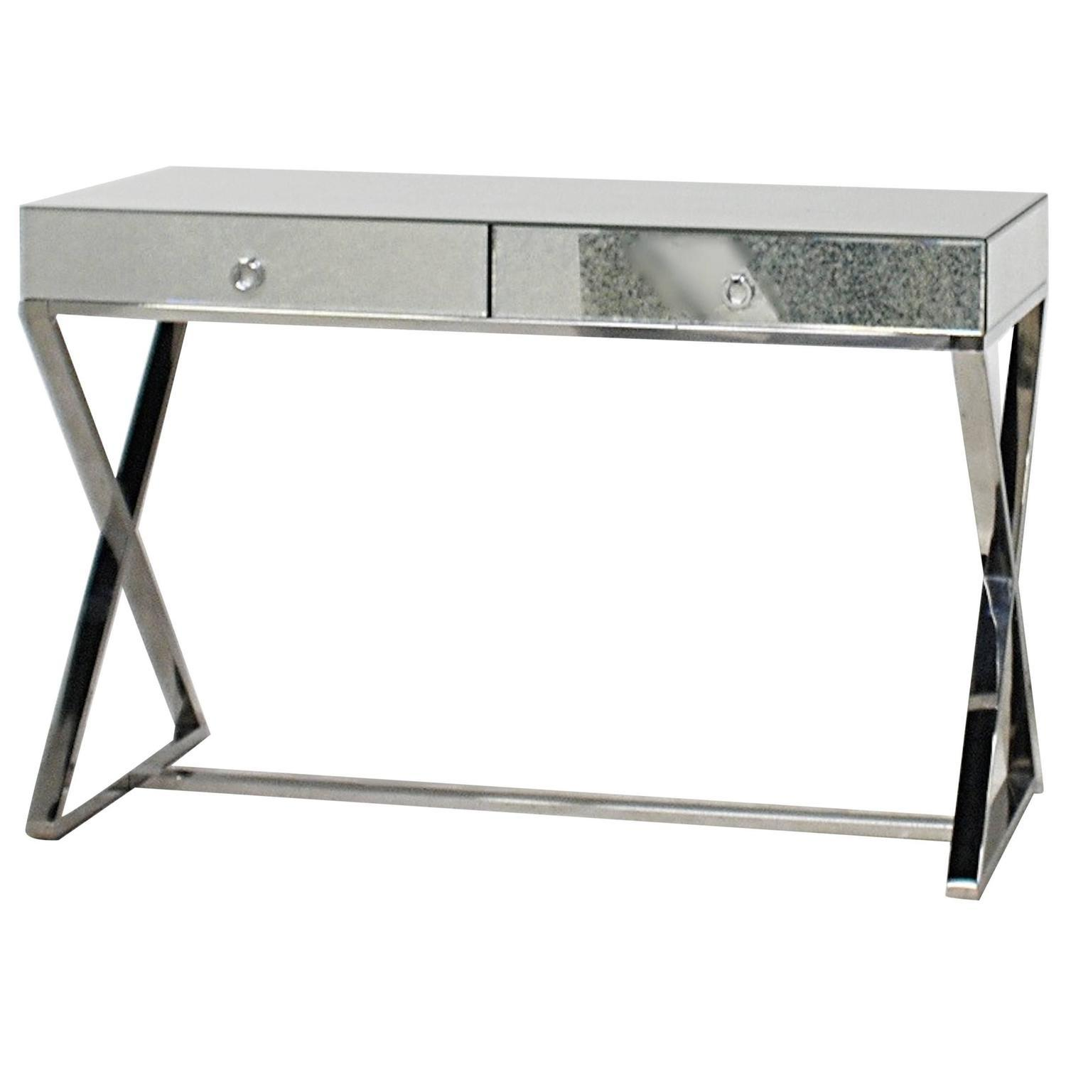 Modern Mirrored Chrome Desk Vanity 1stdibs