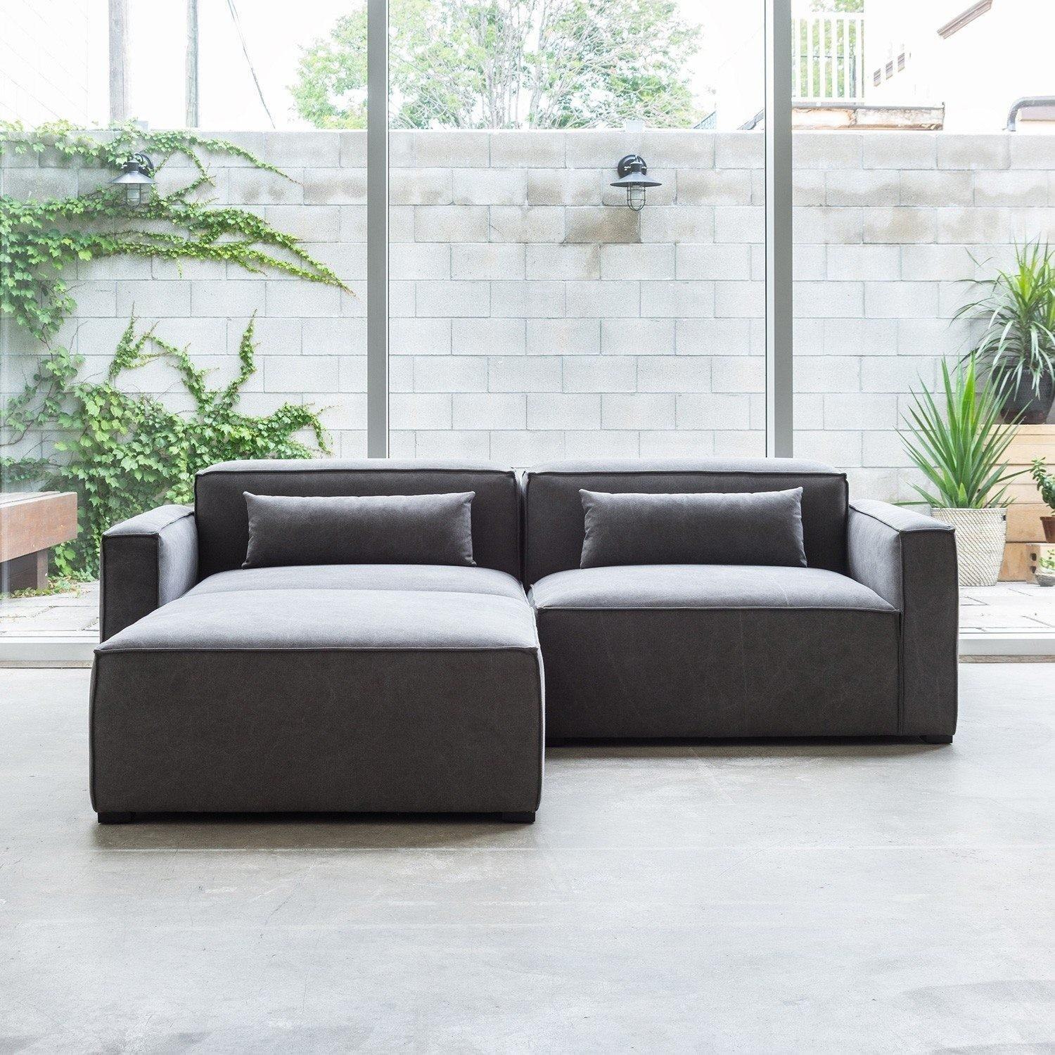 Modern Modular Sectional Sofa Cheap Simple Gray