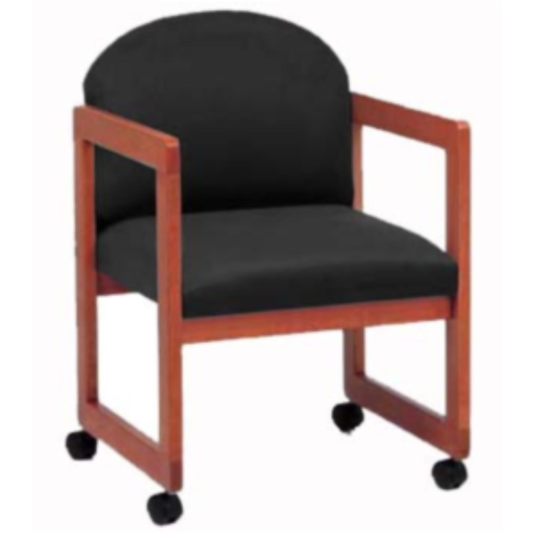 Modern Office Arm Chair Casters Upgrade Fabric