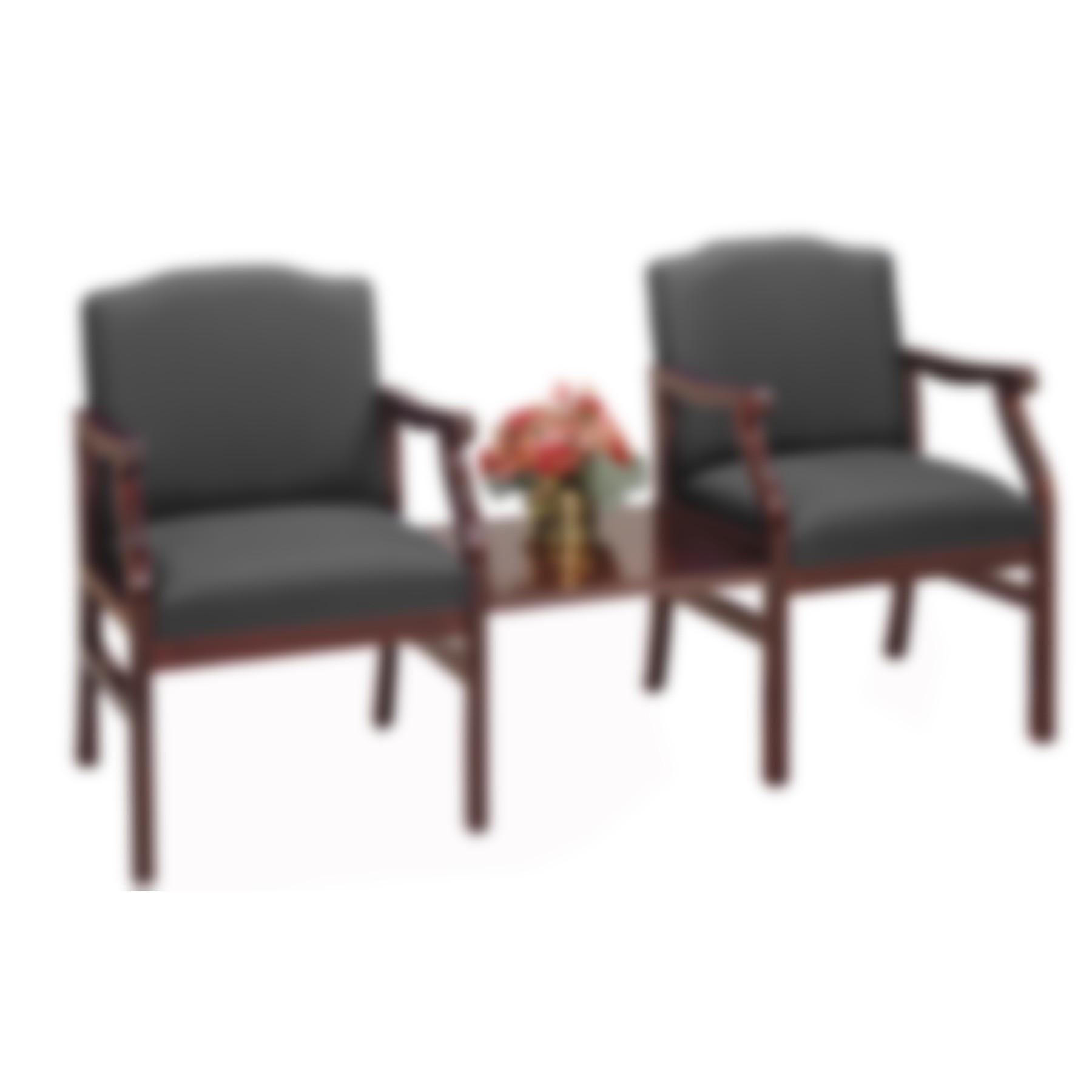 Modern Office Bristol Arm Chairs Center Table
