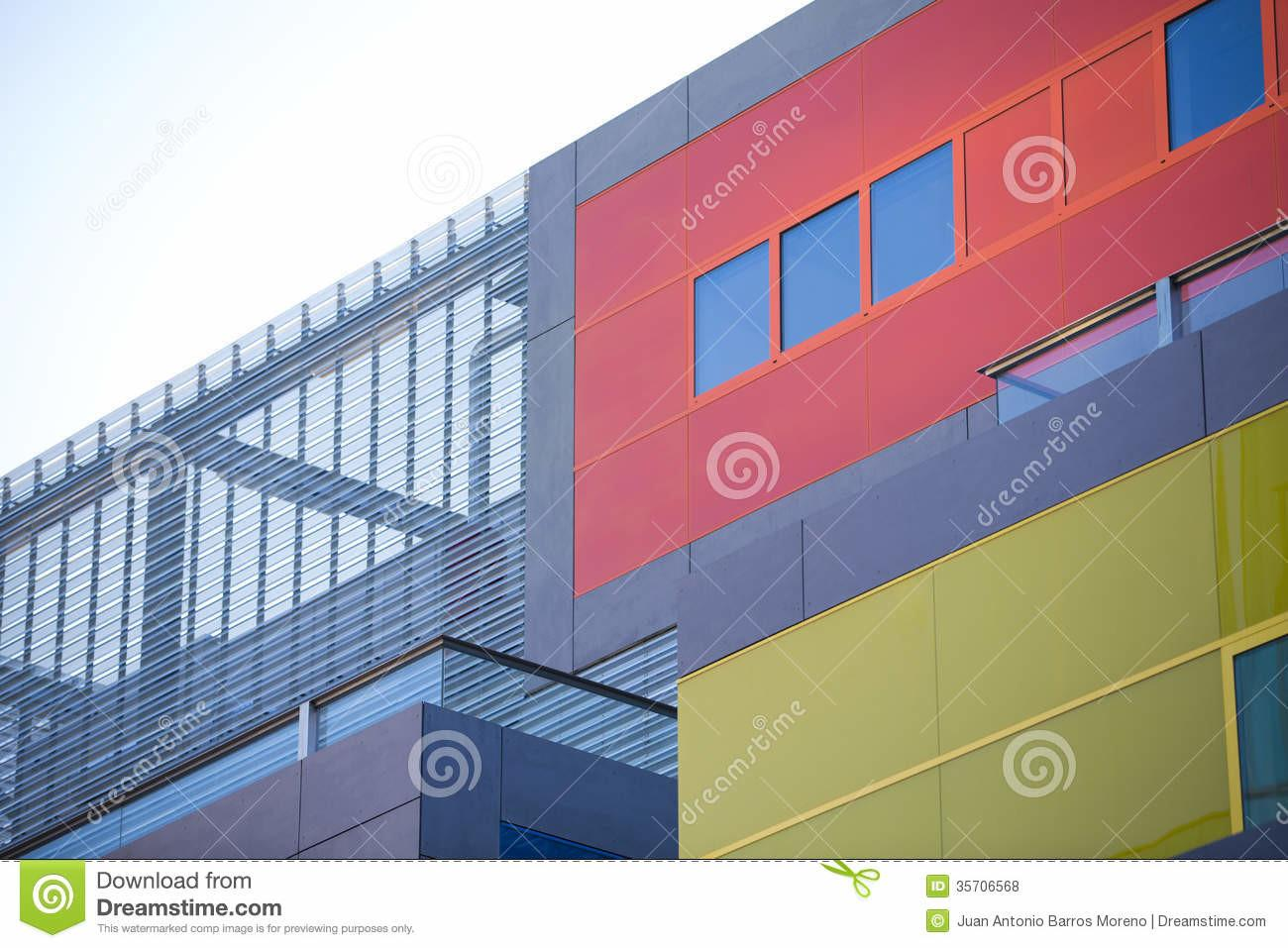 Modern Office Buildings Colorful