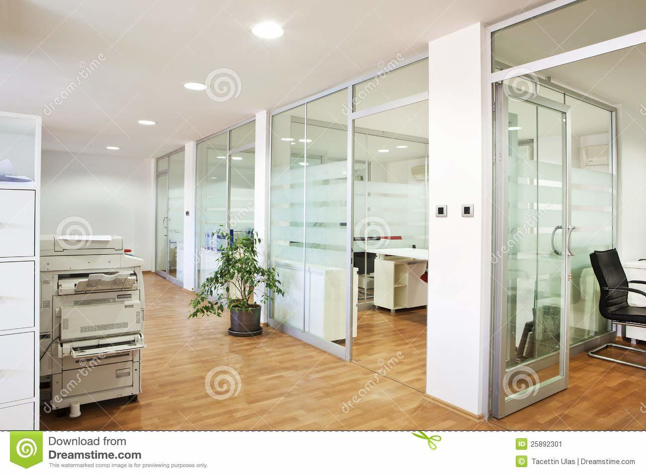 Modern Office Interior Stock Computers