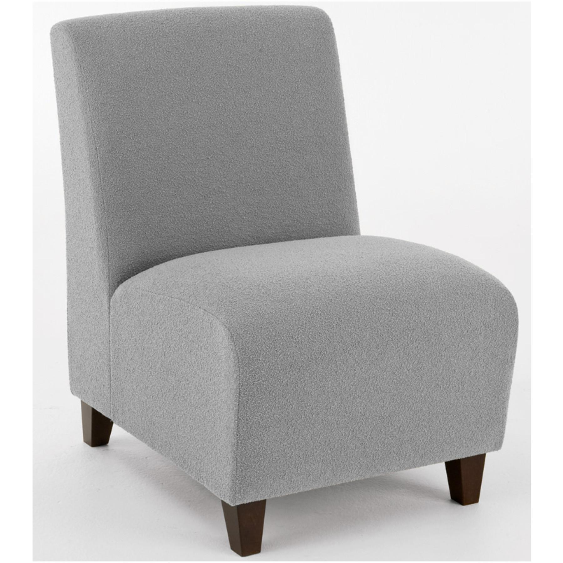 Modern Office Siena Armless Guest Chair Upgrade Fabric