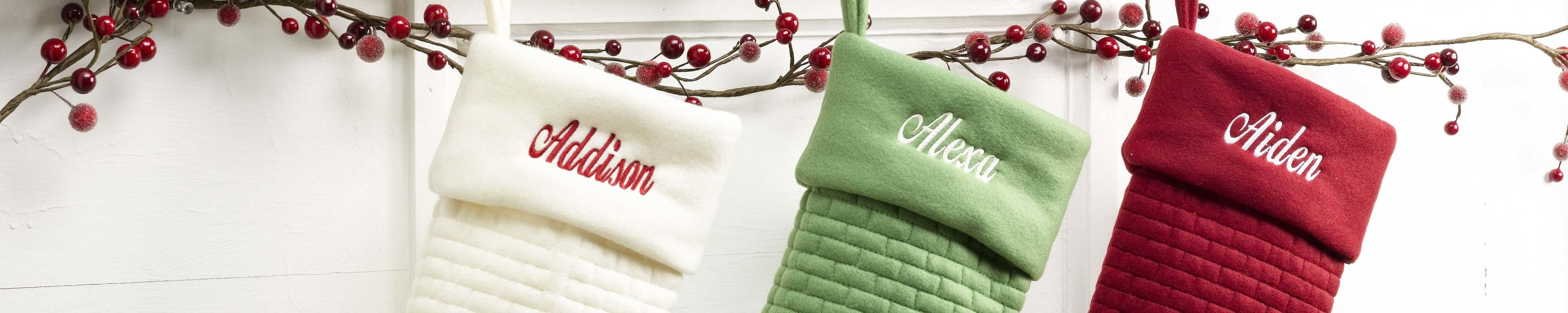 Modern Personalized Christmas Stockings Merrystockings
