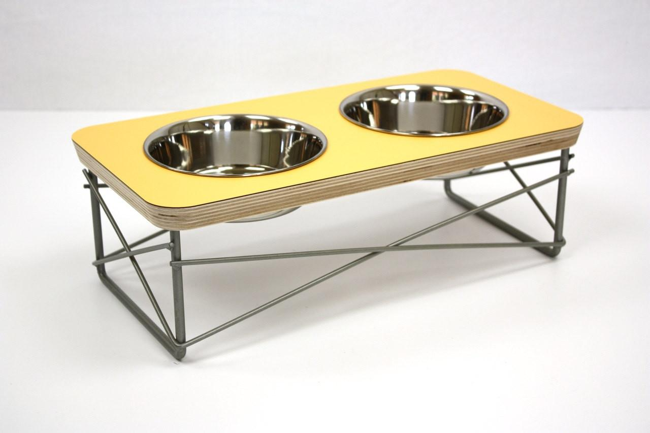 Modern Pet Feeder Dog Bowl Cat Elevated Stand