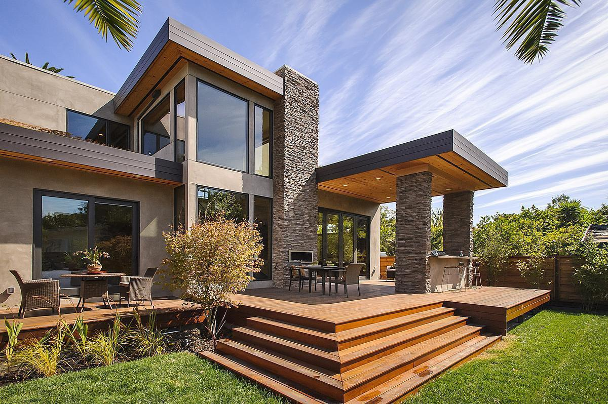 Modern Prefabricated Home Stacked Stones