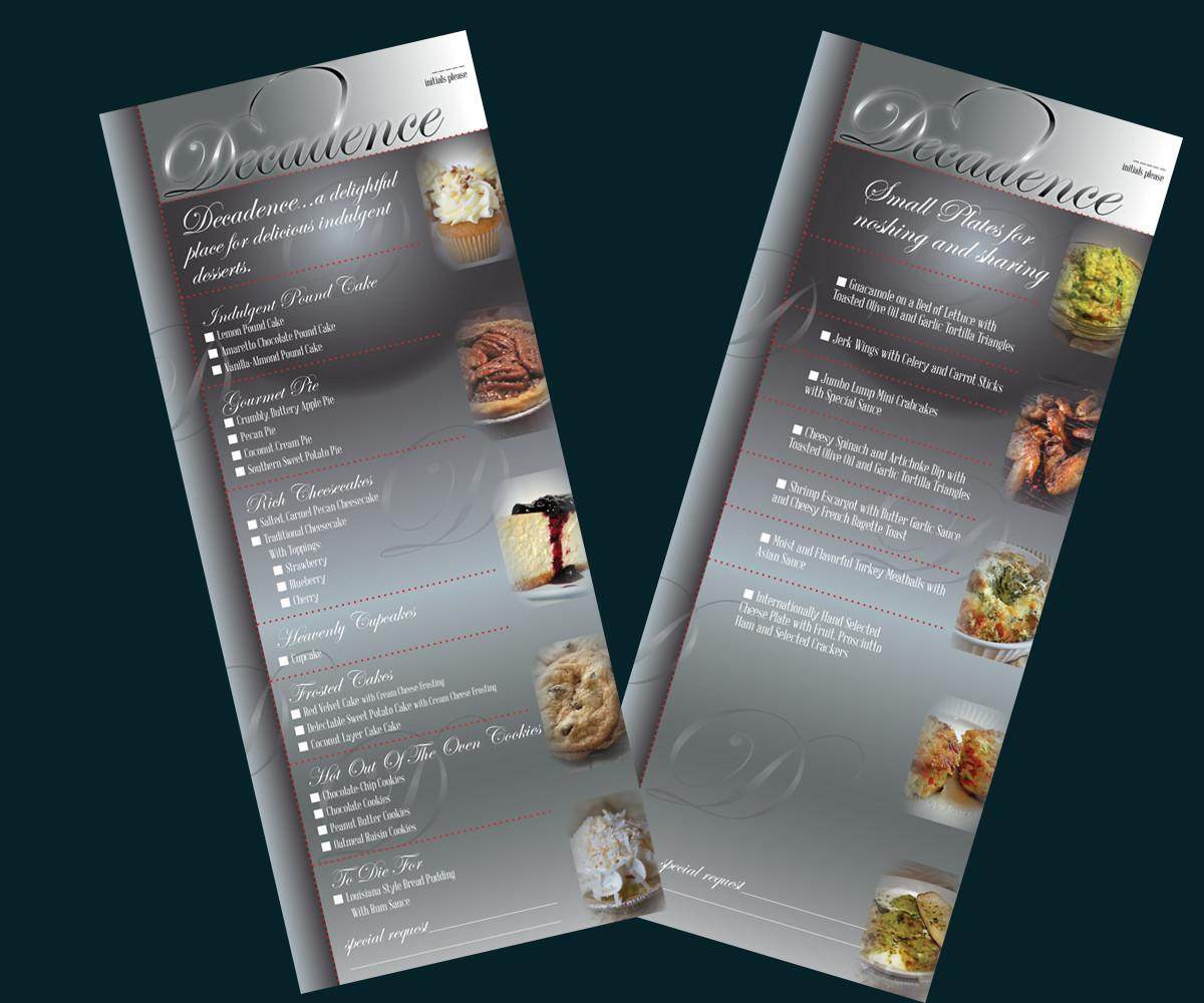 Modern Professional Menu Design Robin Franklin