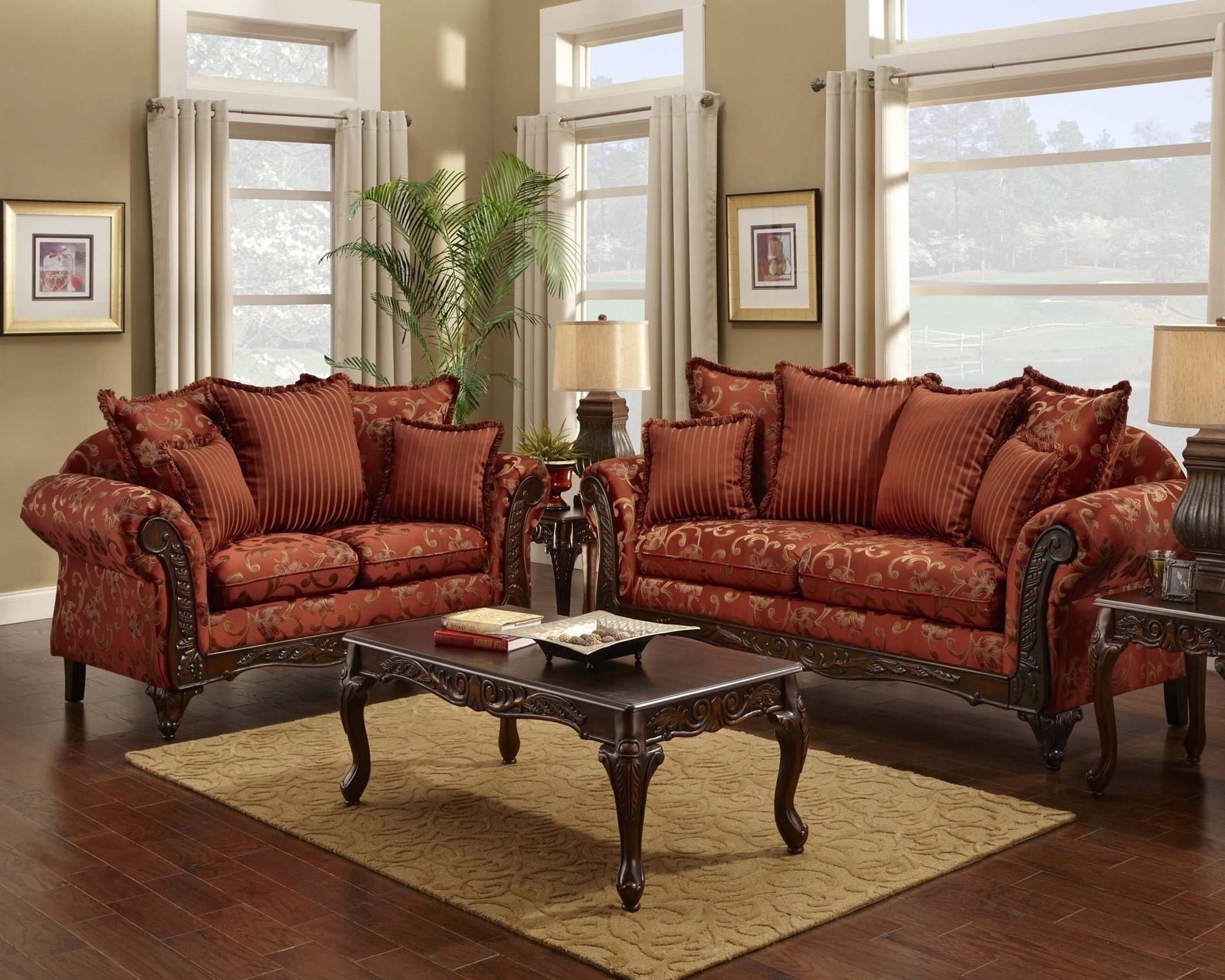 Modern Red Leather Living Room Set Piece