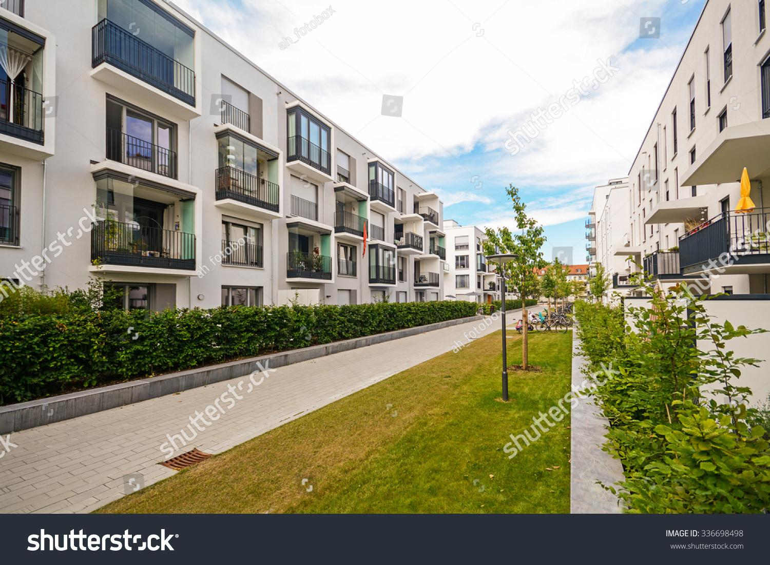 Modern Residential Buildings Outdoor Facilities