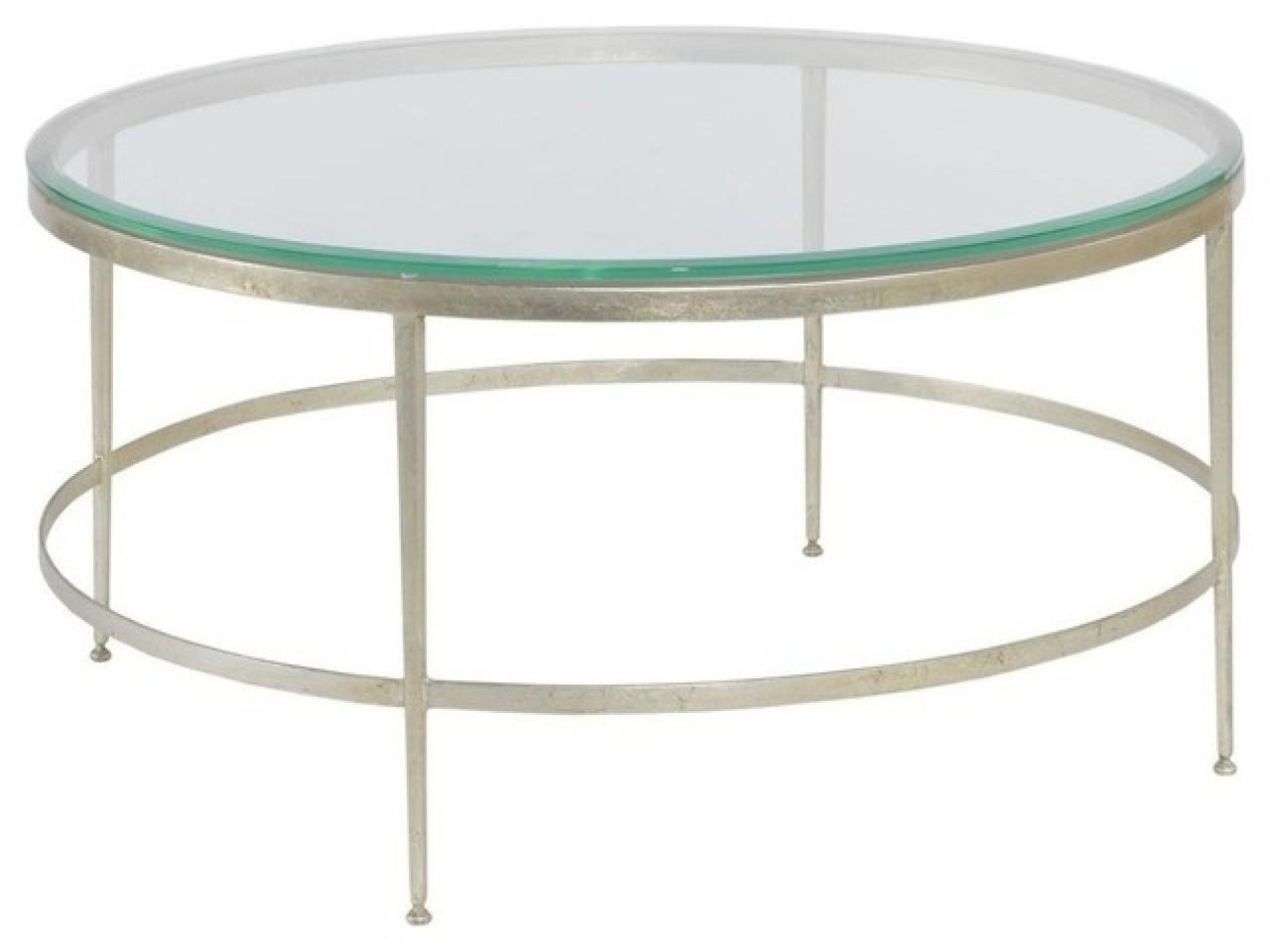 Modern Round Glass Coffee Table Cocktail