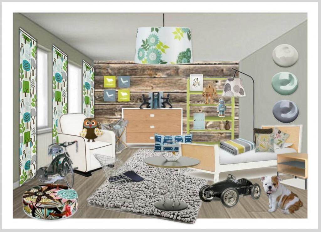 Modern Rustic Child Bedroom Design Relish Interiors