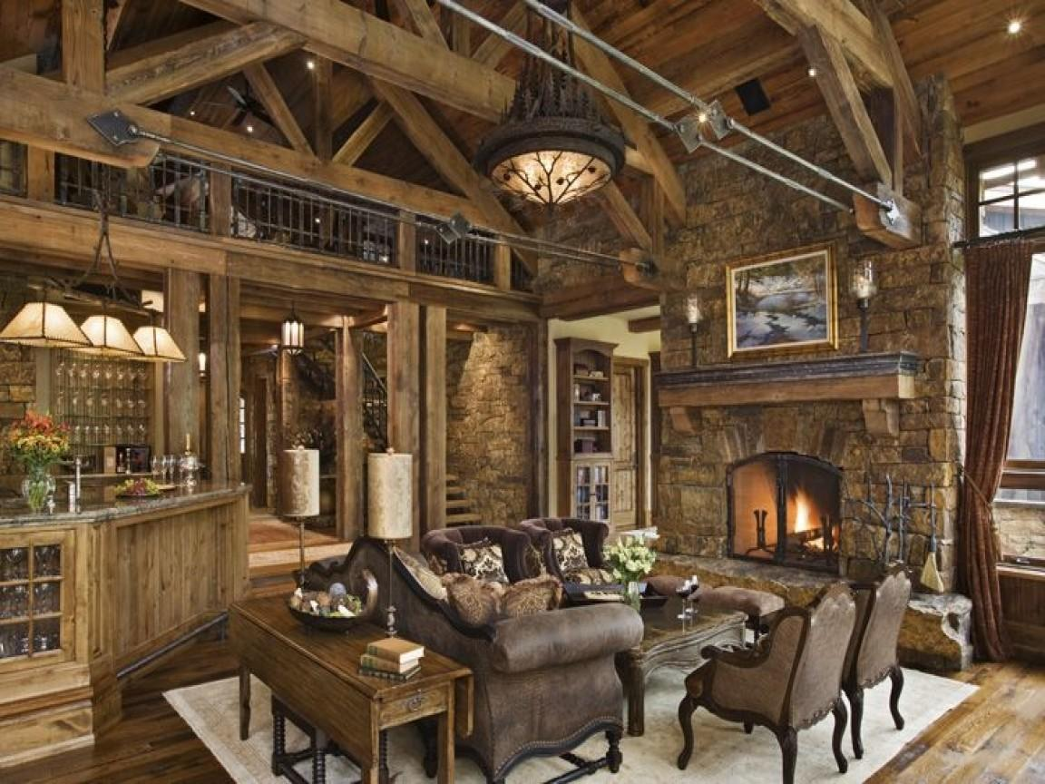 Modern Rustic Living Room Country