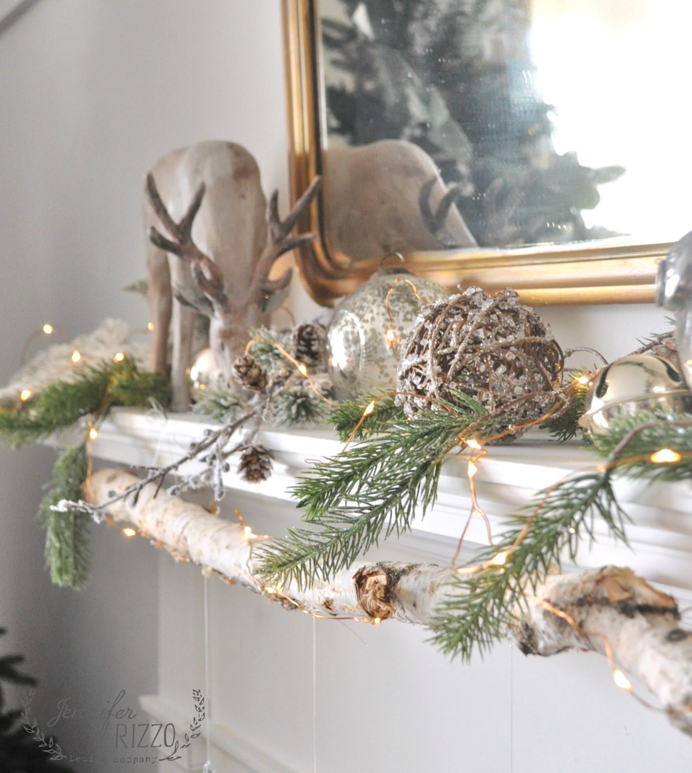 Modern Rustic Mantel Easy Diy Glitter Ornaments