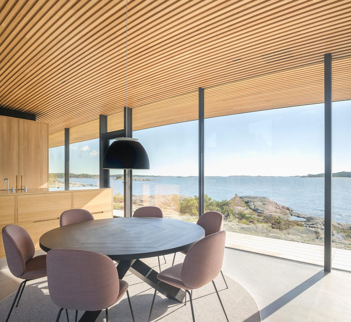 Modern Sea Front Summer Glass House Finland