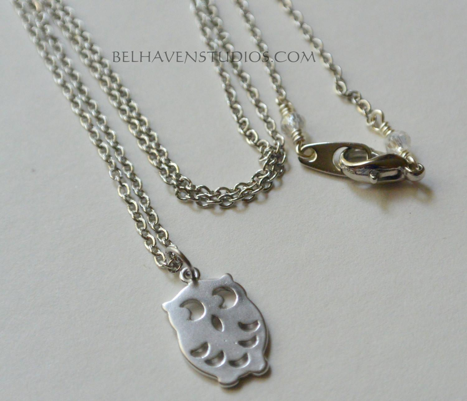 Modern Simple Minimalist Jewelry Everyday Silver Petite Owl