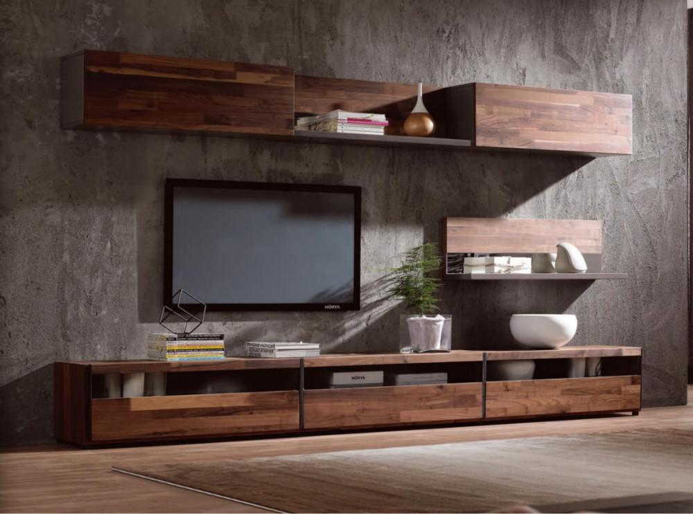Modern Simple Stand Walnut Wood Veneer Cabinet Buy