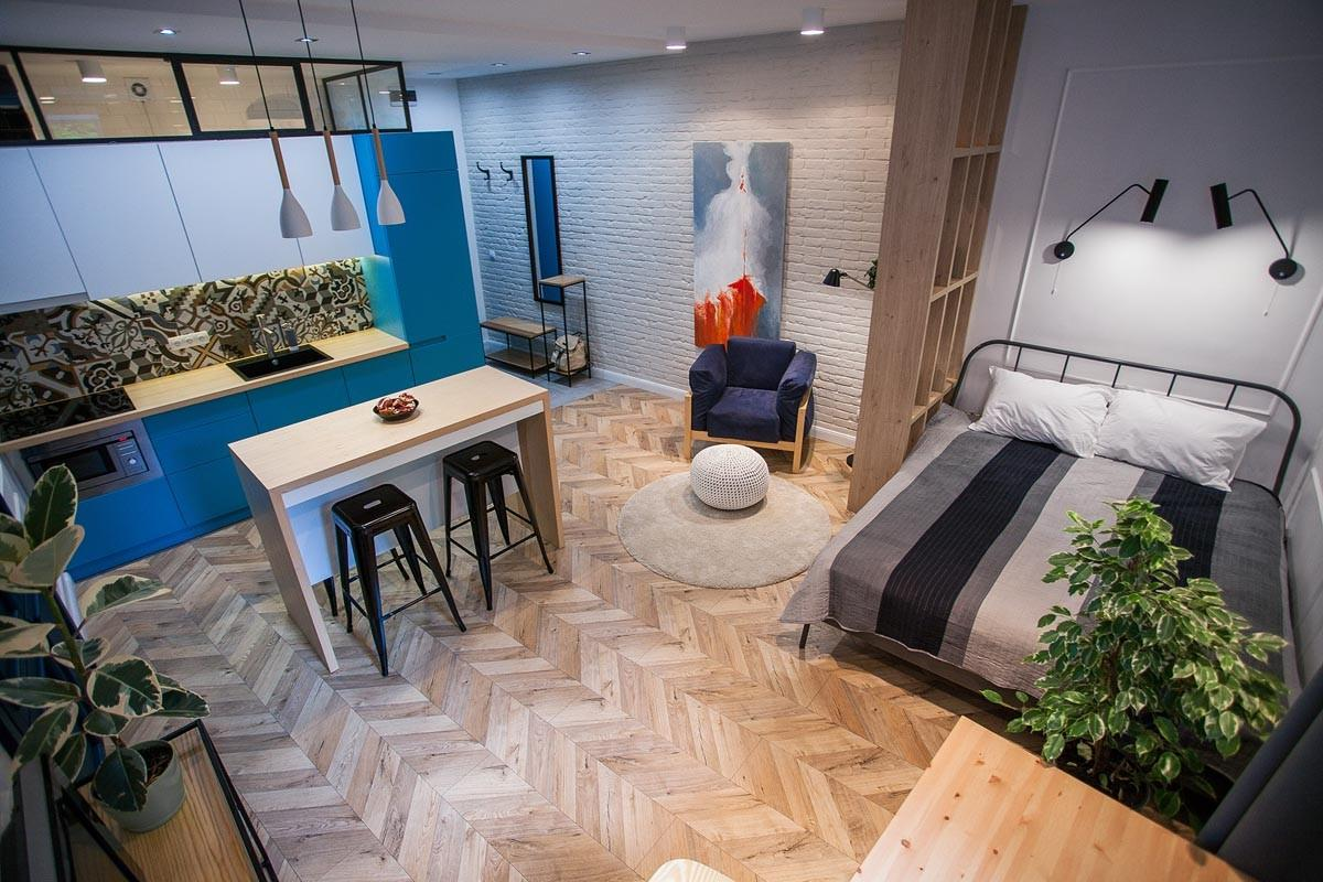 Modern Small Apartment Designs Under Square Meters