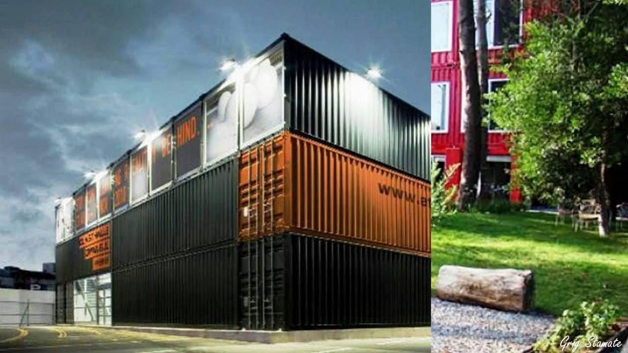 Modern Stacked Shipping Container Homes