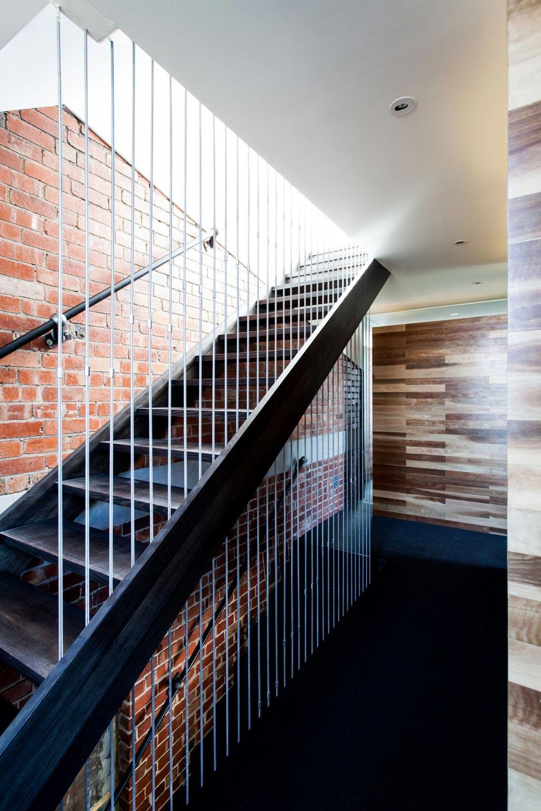 Modern Stairs Exposed Brick Wall Warehouse Conversion