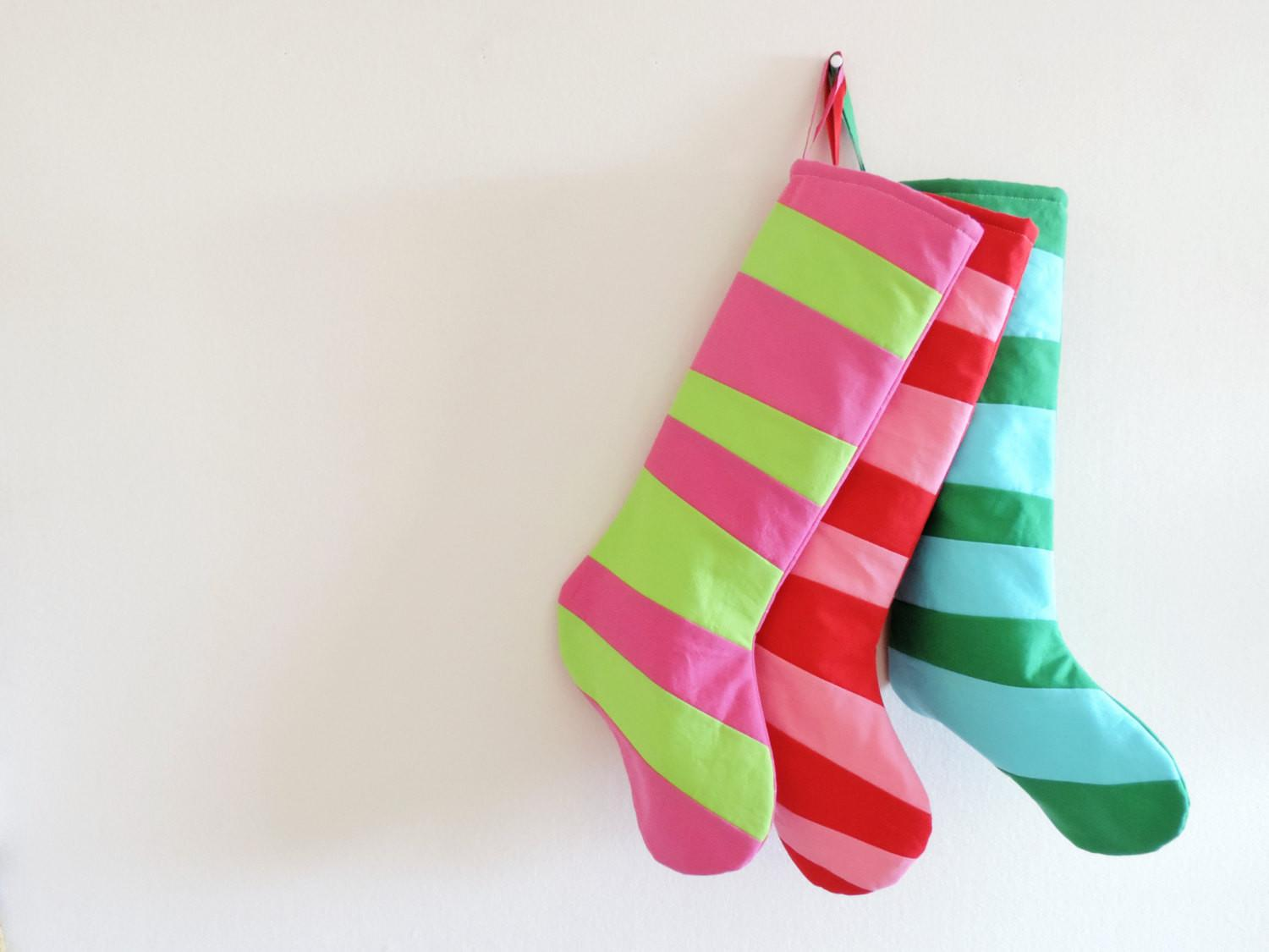 Modern Stockings Personalized Christmas Stocking