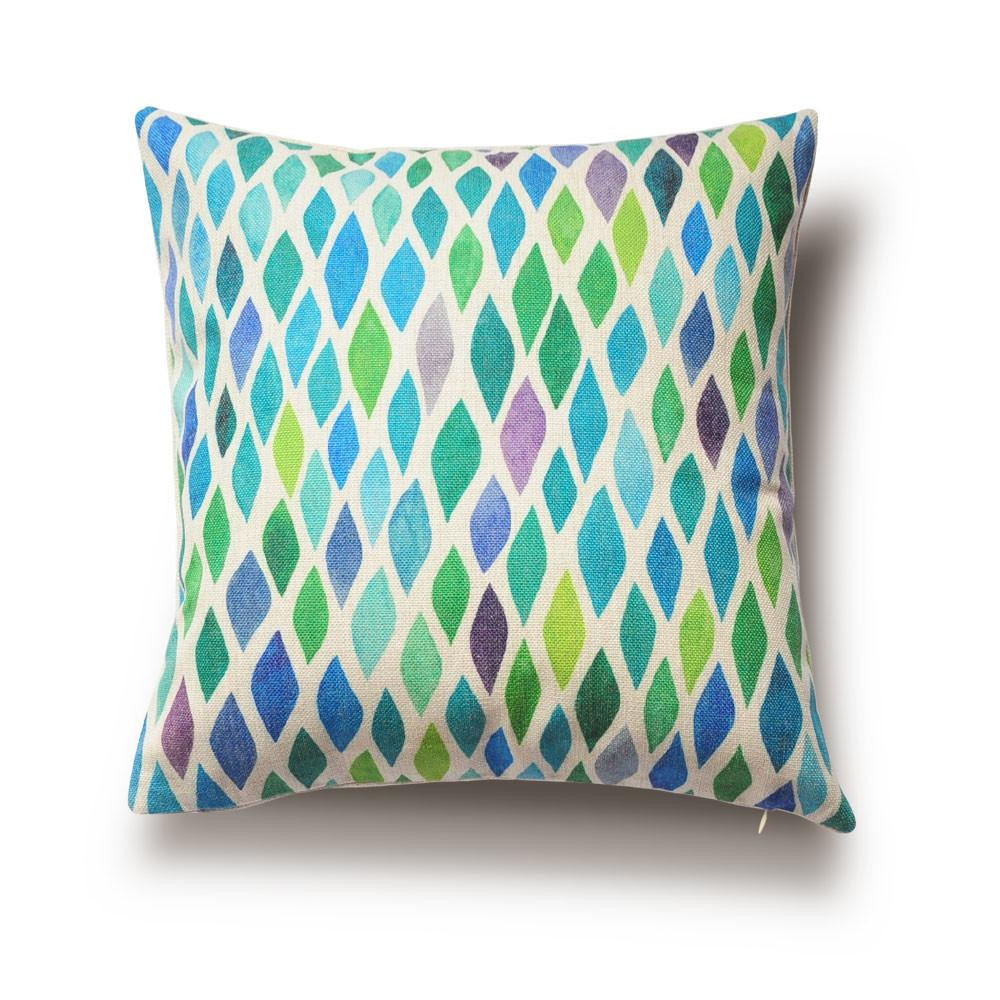 Modern Style Home Cushions Watercolor Geometric Patterns