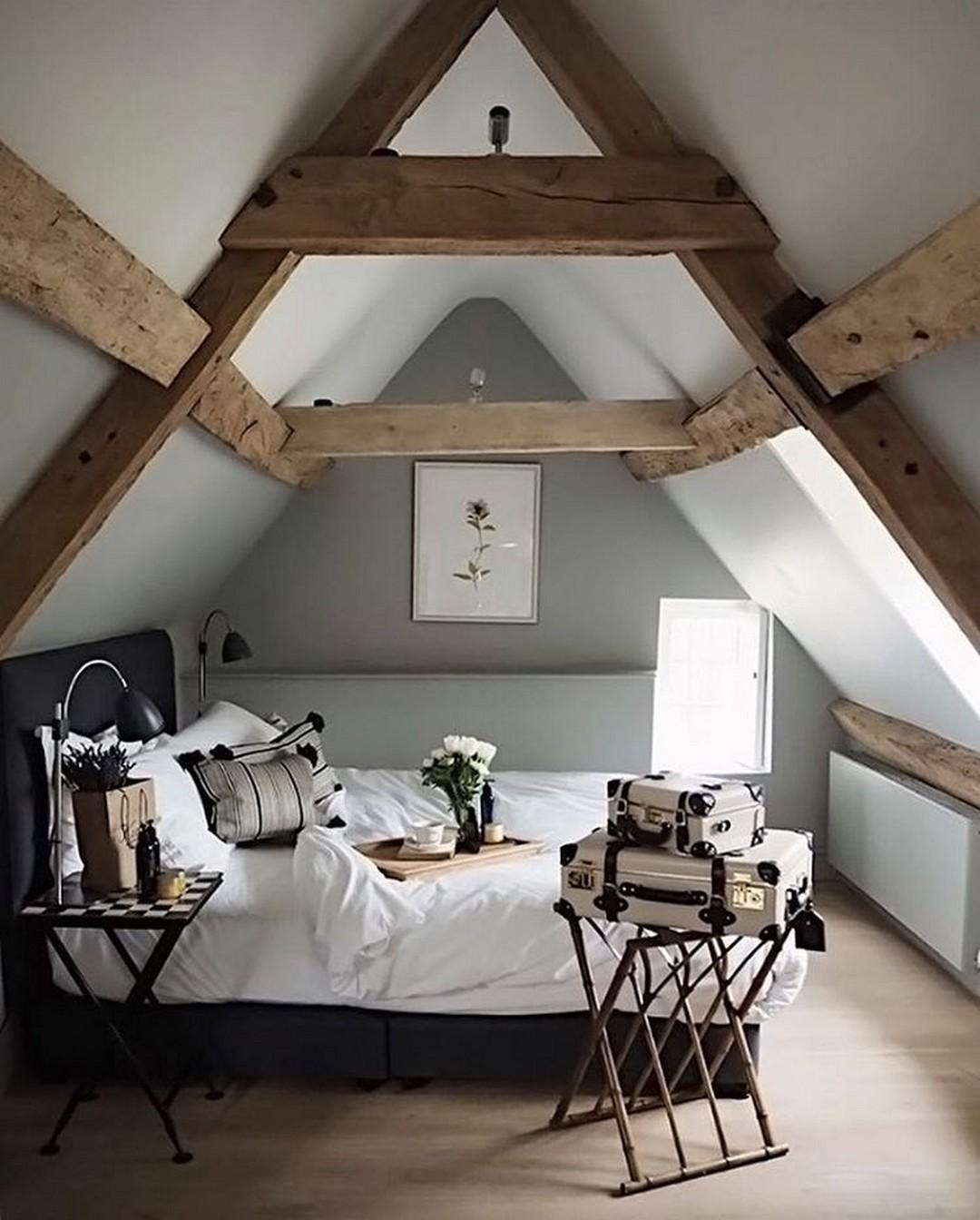 Modern Stylish Rustic Scandinavian Bedroom Decor