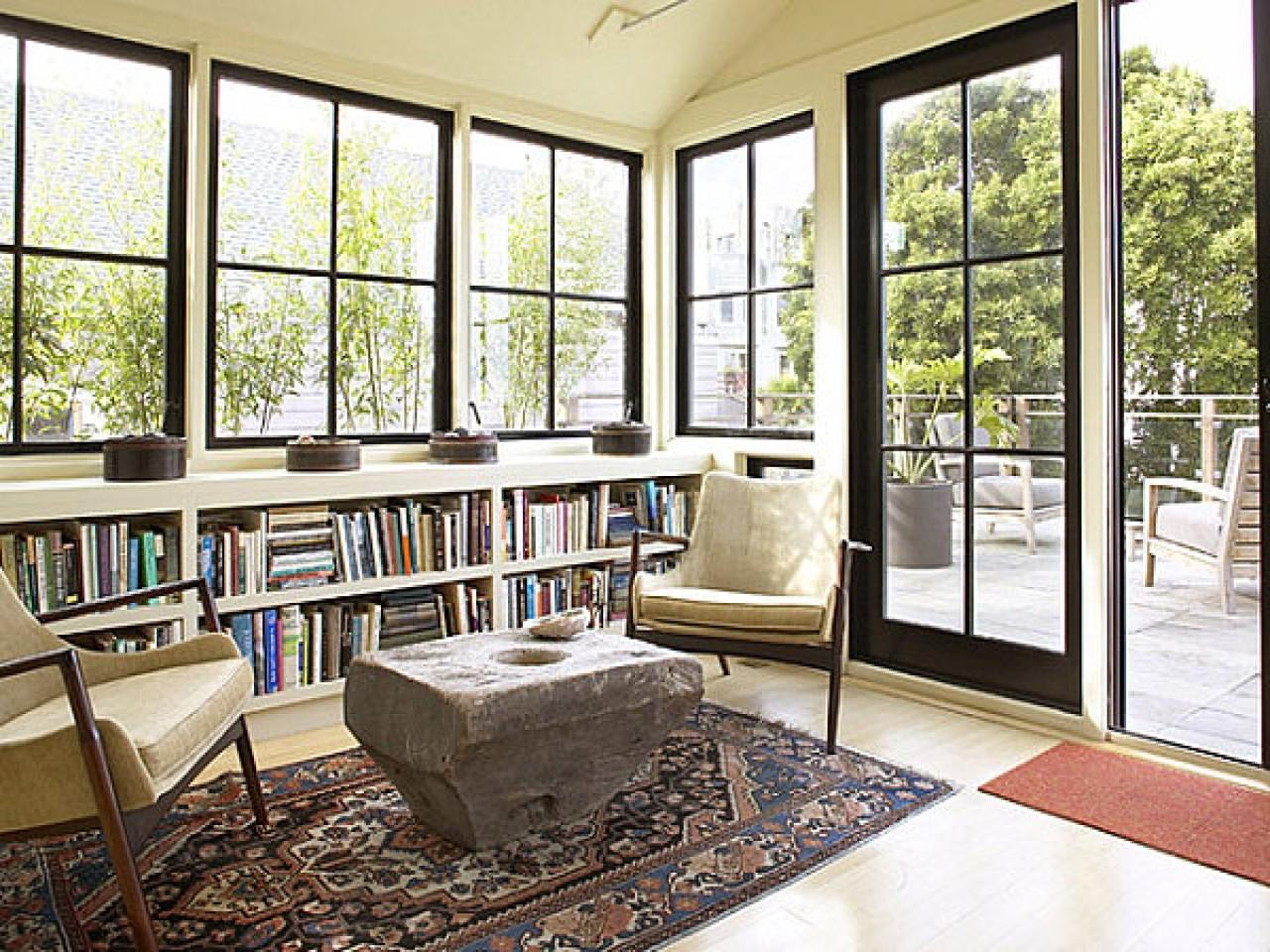 Modern Sunroom Sun Room Windows Black Window
