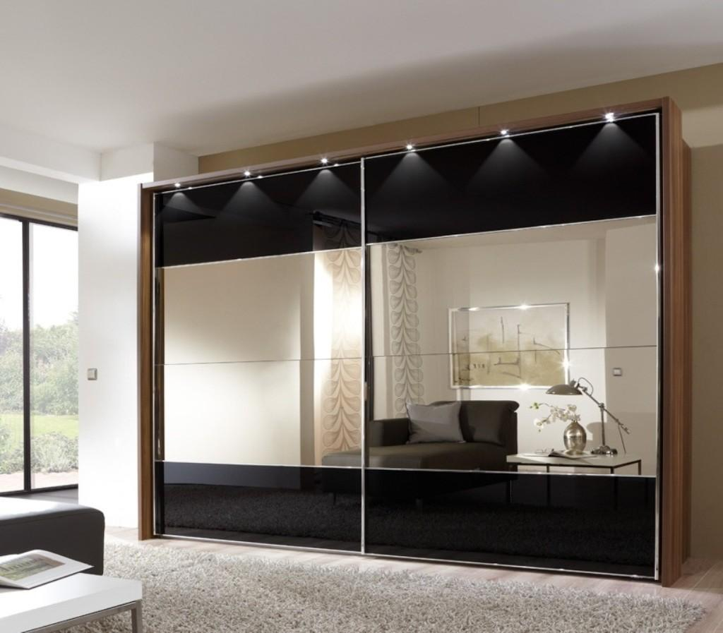 Modern Wardrobe Design Elegant Mirrored Sliding Doors