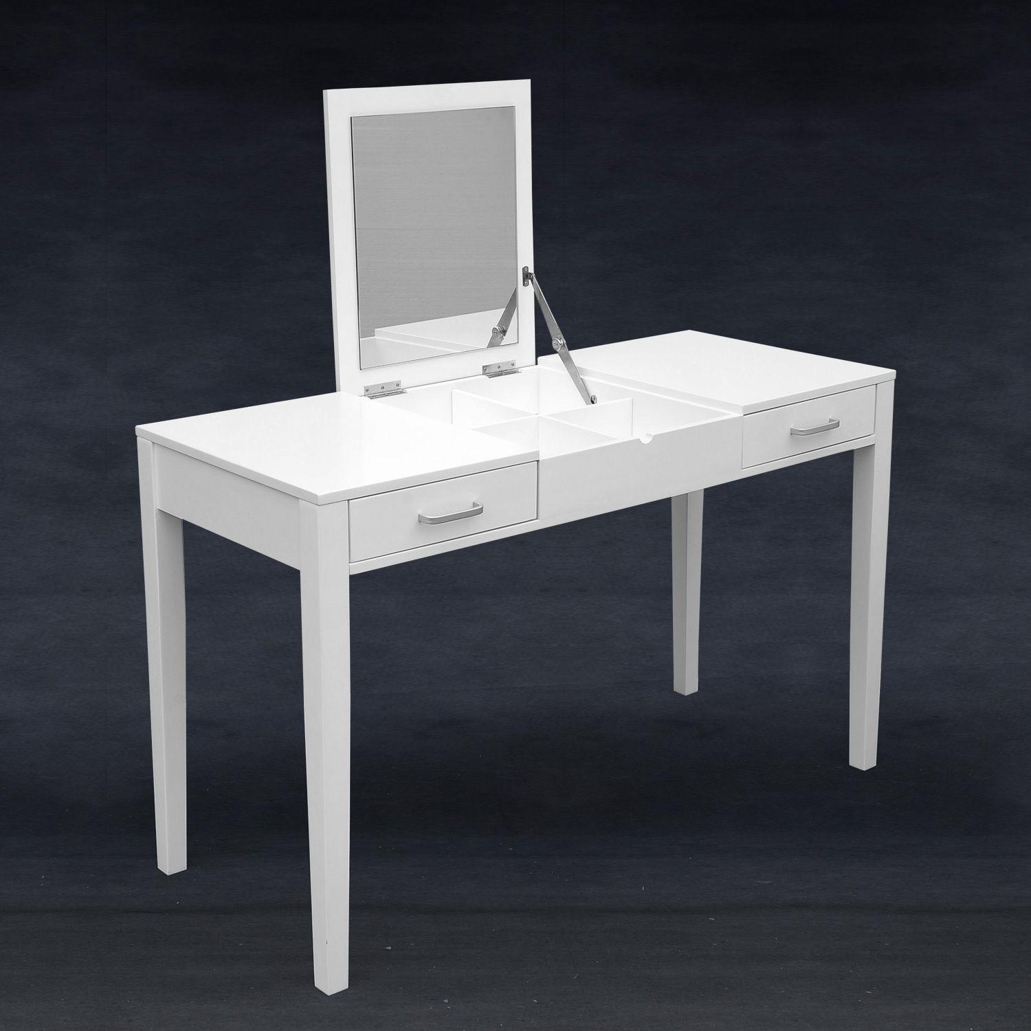 Modern White Dressing Vanity Table Make Writing Desk