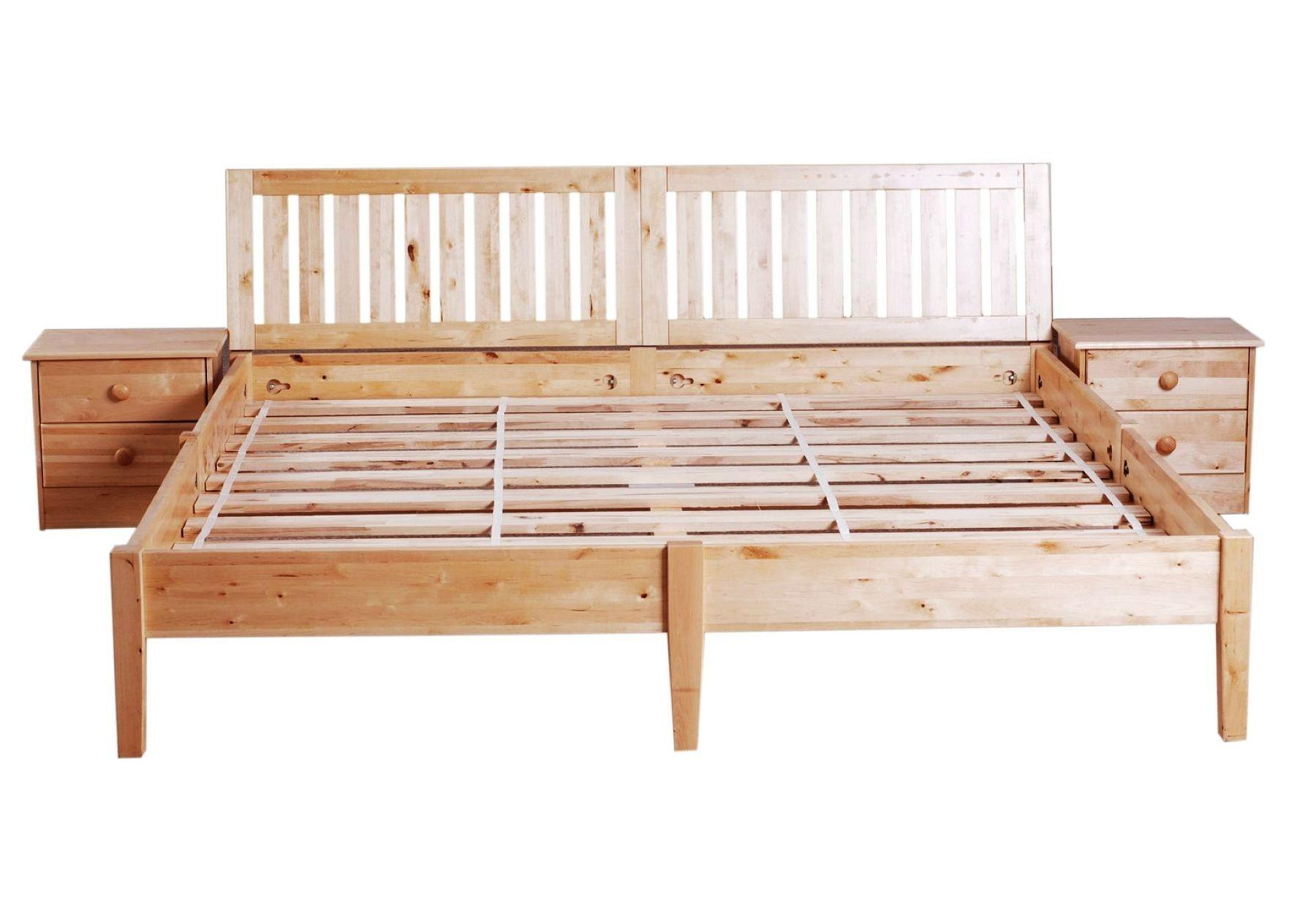 Modern Wood Bed Frame Contemporary Bedroom Rustic