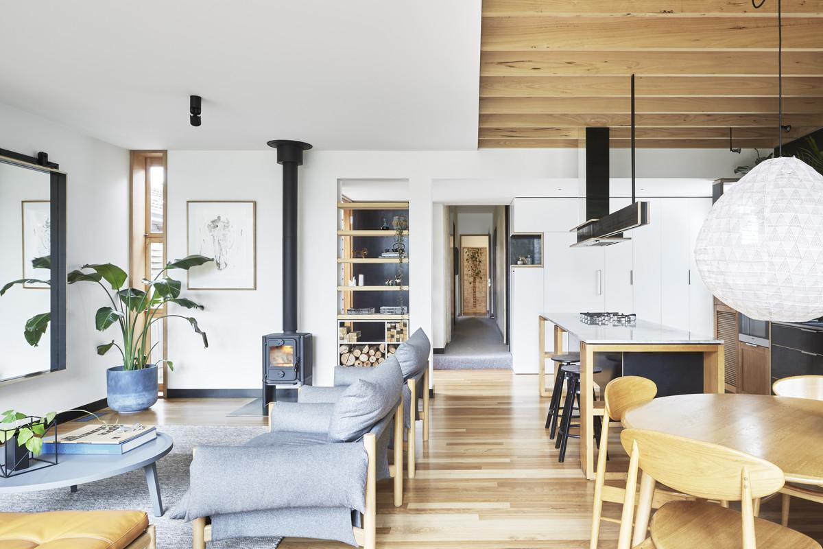 Modern Wooden Box Extension Complements Century Old