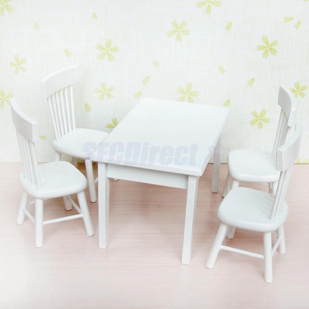Modern Wooden Dining Room Table Chairs Doll